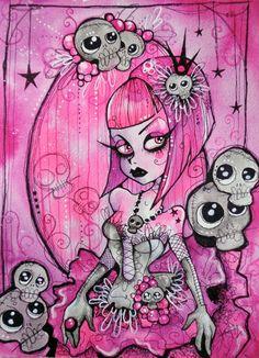 Pink Princess By The Kreep Carte De VisiteFilleFilles