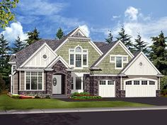 House Plan 87592 | Craftsman    Plan with 4590 Sq. Ft., 4 Bedrooms, 4 Bathrooms, 3 Car Garage
