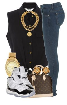 """:]"" by livelifefreelyy ❤ liked on Polyvore featuring Chanel, Michael Kors, Louis Vuitton and Concord"