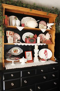 Reds and whites in the hutch (from Itsy Bits and Pieces)