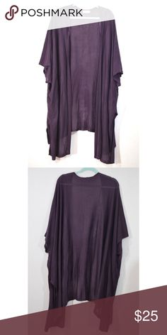 "Altar'd State Eggplant Oversized Cardigan Size S/M 40"" Long good condition Altar'd State Sweaters Cardigans"
