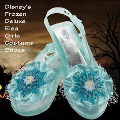 Frozen's Elsa girl's shoes - The Frozen's Elsa Snow Queen Gown Girls Costume for girls and toddlers includes the lovely blue dress and the character cameo. Tiara, wig, shoes and wand available. -  http://mermaidhalloweencostume.net/frozens-elsa-snow-queen-gown-girls-costume #frozenselsasnowqueengowngirlcostume #frozenhalloweencoatumes #elsahalloweencostumes #elsaadulthalloweencostume #elsasnowqueenhalloweencostume #elsadeluxehalloweencostume #frozenselsagirlsshoes