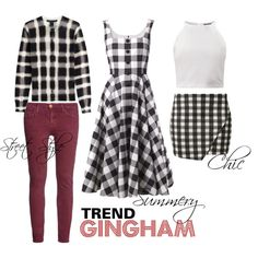 """Gimgham"" by rea-jain on Polyvore"
