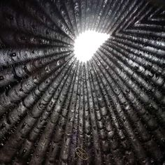 Another Zumthor to experience - Bruder Klaus Field Chapel - the richness of the interior and process seem at odds with the exterior