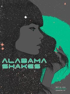 Alabama Shakes gig poster by Scott Ortner