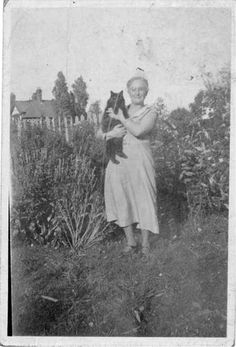 Granny Leighton was the epitome of a grandmother, with her white hair done up in a bun, and her lovely smiley face. She even sat in a rocking chair by the fire knitting, when she wasn't dashing around the kitchen, singing whilst she cooked.