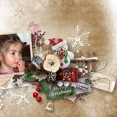 Layout using {One Magic Christmas} Digital Scrapbook Kit by Eudora Designs available at PBP https://www.pickleberrypop.com/shop/manufacturers.php?manufacturerid=173