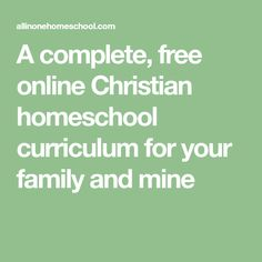 A complete, free online Christian homeschool curriculum for your family and mine Free Homeschool Curriculum, Homeschool Books, Curriculum Planning, Homeschool Kindergarten, Homeschooling, Preschool, Free Teaching Resources, Teacher Resources, Christian Homeschool
