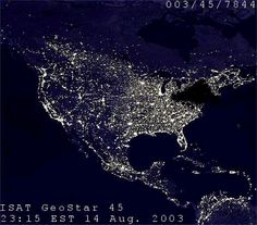 New York and other areas affected by the 1977 blackout as seen from above.
