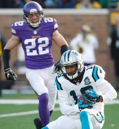 Panthers Vikings Football Harrison Smith, Philly Brown
