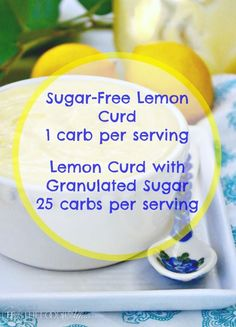 Sugar Free Lemon Curd | Low Carb Smooth and Creamy Dessert Topping