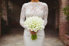 Morgan Stewart's call lily bouquet: http://www.stylemepretty.com/2016/06/20/steal-the-look-morgan-stewarts-glam-all-white-wedding/