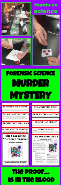 Connect Literacy and Science -  Forensic Science Murder Mystery