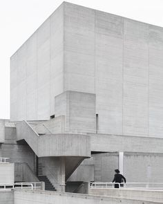 The brutalist Royal National Theatre in London, designed by Denys Lasdun