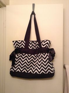 Diy chevron tote bag with bows