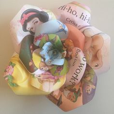 Upcycled handmade Disney Princess - Snow White paper rose by Karolina Rose #DisneyFan #SnowWhite