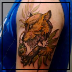 Fox tattoo made a while ago    #fox #foxtattoo #neotradfox #neotrad #neotraditional #neotraditionaltattoo #intenzeink #intenzecolors #tats #tatsoul #tattooink #tattoolife #tattooartist #instatattoo #inkedup #inkedlife #tattooworkers #tattooer #tattooculture #followme