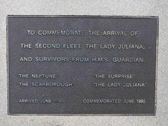Second Fleet Inscription Plaque.  Private Joseph Baylis, NSW Corps 102nd Regiment  was on 'Surprise' arrived 26 June 1790