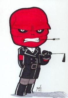 Chibi-Red Skull. by hedbonstudios on DeviantArt