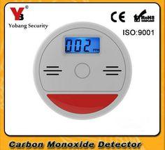 YobangSecurity Home Security Czujnik Tlenku Węgla CO Zatrucie Ostrzeżenie Niezależny 85dB LCD Fire Alarm Ostrzegawczy Detector