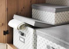 Caixas que deixam espreitar.  #arrumação #decoração #IKEAPortugal