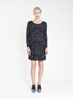 MARIMEKKO KEINUVA DRESS Scandinavia Design, Marimekko, Dark Grey, Fashion Bags, Tunic, Formal Dresses, Celebrities, Winter, Color