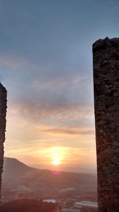 A sunset in the castle of Banyeres de Mariola
