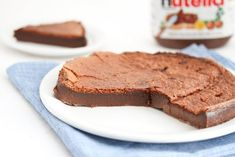 Flourless 2 Ingredient Nutella Cake