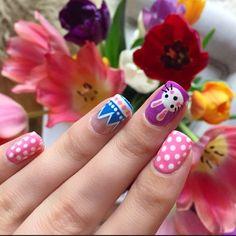 Easter nails via Instragram by @missjenfabulous