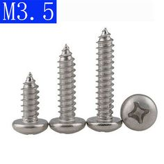 Details About M3 5 316 Stainless Steel A4 Cross Recessed Pan Head Self Tapping Screws Din 7981 With Images 316 Stainless Steel Stainless Steel Steel