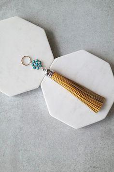 Keychain Add-On   Marigold   Turquoise