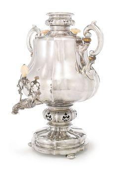 ロシア製 シルバー サモワール 1869