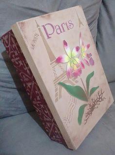 """Caixa decorada """"Orquídea"""""""