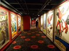 Colorful hallways at Alamo Drafthouse in Raleigh   #nctriangledining #cinama #movies #ncrestaurantreview #ncfood #ncrestaurant  #nceats #raleigh #raleighnc #raleighfood #raleighrestaurant #raleigheats