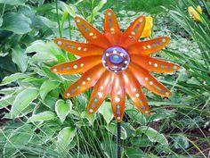 Glass Flower Garden Art Garden Sculpture Glass by GlassBlooms