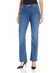 Lee Women's Platinum Comfort Fit Nellie Barely Bootcut Jean, Heron Blue, 14 >>> Click on the image for additional details. #WomensJeans