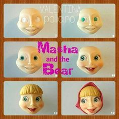 Afbeeldingsresultaat voor masha and the bear tutorial fondant Fondant Figures Tutorial, Cake Topper Tutorial, Fondant Toppers, Fondant Cakes, Bithday Cake, 3rd Birthday Cakes, Cake Decorating Techniques, Cake Decorating Tips, Masha Et Mishka