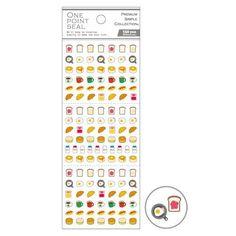 Kawaii mini toast pancake milk food stickers by Mind Wave
