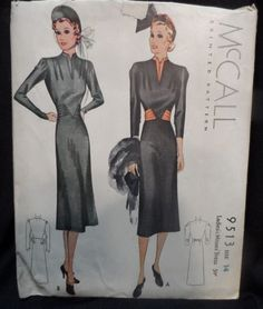 McCall 9513 | 1937 Ladies' & Misses' Dress