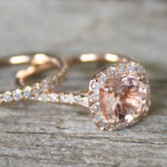 Rose Gold Engagement Rings - perfect on every skin tone {Via Studio1040's Etsy} #beauty #mustbeexpensive