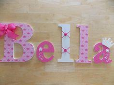 Letras de princesa decoración de la princesa princesa Crafts To Do, Crafts For Kids, Arts And Crafts, Diy Crafts, Baby Letters, Wood Letters, Decorated Letters, Free Standing Letters, Baby Shower Crafts