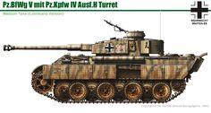 Panzerkampfwagen V Panther Ausf con la torre de PzKpfw IV Ausf H. German Soldiers Ww2, German Army, Army Vehicles, Armored Vehicles, Ww2 Panzer, Battle Of Normandy, Tiger Tank, Model Tanks, Ww2 Tanks