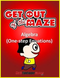 Algebra  Maze - Level 1 - One-step EquationsGet the complete bundle of Algebra MazesLevel 1 - One-step Equations Level 2 - Two-step EquationsLevel 3 - Combining Like TermsGet the BIG BUNDLE of Algebra Mazes HERE and  SAVE 50%!These algebra mazes gives the students a fun and differentiated activity while allowing for quick and painless grading!