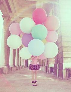 balloons pastel
