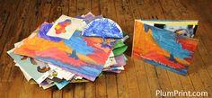 Plum Print kids art into a book
