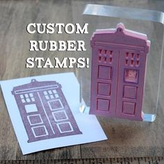 """Create Custom Rubber Stamps! (tutorial)  Apparently, they sell """"Speedball, Speedy-Carve Rubber sheets"""" on amazon, $15 a sheet that is 6 by 12 inches.  How cool is that!?  I think I'd have fun making my own stamps... and maybe even selling some.  =]"""