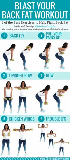 This back workout will help you burn back fat. Do all 6 of these of these fat bu. This back workout will help you burn back fat. Do all 6 of these of these fat burning back exercises for a complete workout that's perfect for women. Short Workout, Back Workout Women, Back Fat Workout, Back Workouts For Women, Back Fat Exercises At Home, Womens Back Exercises, Upper Body Workout For Women, Back Weight Exercises, Work Exercises