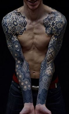 50 Cool Tattoo ideas for Men & Women - purple leaves