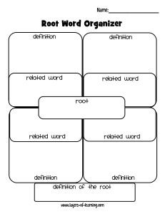 Free Printable Root Word Organizer
