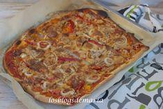 Pizza de atún, pimientos rojos y cebolla con toque de soja | La cocina perfecta